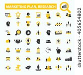 marketing plan  research icons  | Shutterstock .eps vector #405654802