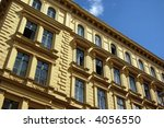 old building on the sky... | Shutterstock . vector #4056550