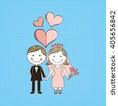 wedding card design  | Shutterstock .eps vector #405656842