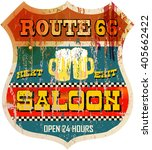vintage route sixty six saloon...   Shutterstock .eps vector #405662422