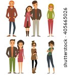 people characters. character... | Shutterstock .eps vector #405665026