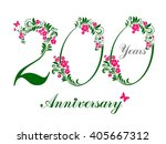 200 years anniversary. happy... | Shutterstock . vector #405667312
