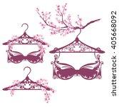 spring season lingerie design... | Shutterstock .eps vector #405668092