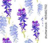 hand drawn watercolor seamless... | Shutterstock . vector #405682702