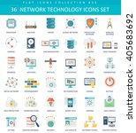 vector network technology color ... | Shutterstock .eps vector #405683692