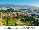 panorama of athens  greece ... | Shutterstock . vector #405685786