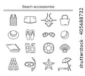 accessories for a beach holiday....