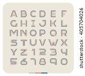 outline retro vintage font.... | Shutterstock . vector #405704026