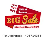 big sale   limited time only ... | Shutterstock .eps vector #405714355