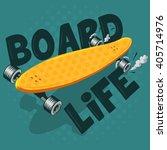 long board vector illustration. ... | Shutterstock .eps vector #405714976