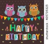 happy birthday greeting card... | Shutterstock .eps vector #405735325