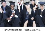 a group of graduates celebrating   Shutterstock . vector #405738748