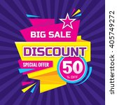 discount 50   off   advertising ... | Shutterstock .eps vector #405749272