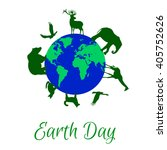 animals around planet earth | Shutterstock .eps vector #405752626