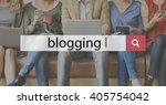 blog blogging blogger... | Shutterstock . vector #405754042