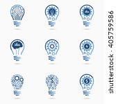 light bulb idea icons set with... | Shutterstock .eps vector #405759586