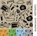 medical pattern 5 color... | Shutterstock .eps vector #40576051