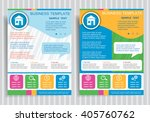 house icon on vector brochure... | Shutterstock .eps vector #405760762