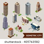 isometric city isolated icon... | Shutterstock .eps vector #405763582