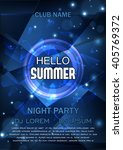 club party flyer. hello summer... | Shutterstock .eps vector #405769372