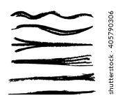 set of grunge brush strokes ... | Shutterstock .eps vector #405790306