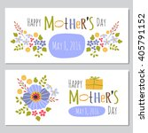 vector mothers day set of... | Shutterstock .eps vector #405791152