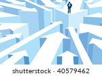 successful businessman standing ... | Shutterstock .eps vector #40579462