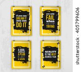 set of posters about motivation ... | Shutterstock .eps vector #405799606