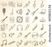 hand drawn musical instruments... | Shutterstock .eps vector #405803158