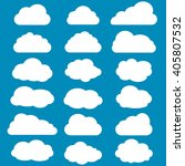 Cloud Set. Cloud Icon Vector....