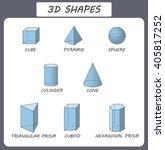 vector 3d shapes. educational... | Shutterstock .eps vector #405817252