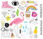 hand drawn doodles collection | Shutterstock .eps vector #405826276