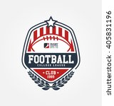rugby logo vector  football... | Shutterstock .eps vector #405831196