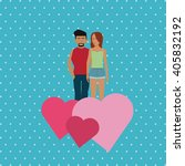 love and couple design   vector ... | Shutterstock .eps vector #405832192