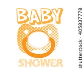 isolated pacifier with texture... | Shutterstock .eps vector #405837778