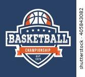 sport basketball logo. american ... | Shutterstock .eps vector #405843082