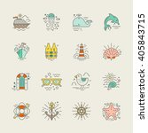 cruise vacation icons made in... | Shutterstock .eps vector #405843715