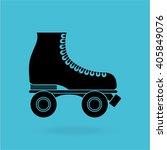 skate retro design  | Shutterstock .eps vector #405849076