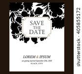 romantic invitation. wedding ...   Shutterstock .eps vector #405855172