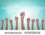 empowering women power  human... | Shutterstock . vector #405858436