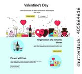 valentines day posters and...   Shutterstock . vector #405864616