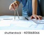 close up man working of...   Shutterstock . vector #405868066