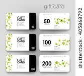 gift coupon  discount card... | Shutterstock .eps vector #405868792