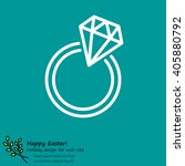web line icon. diamond ring.   Shutterstock .eps vector #405880792