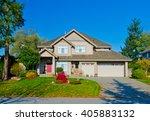 big custom made luxury house... | Shutterstock . vector #405883132