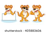 leopard mascot vector happy ... | Shutterstock .eps vector #405883606