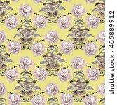 watercolor seamless pattern... | Shutterstock . vector #405889912