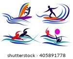 infographics water sports | Shutterstock .eps vector #405891778