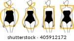 woman body shapes. apple  pear  ... | Shutterstock .eps vector #405912172