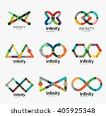 vector infinity logo set  flat... | Shutterstock .eps vector #405925348
